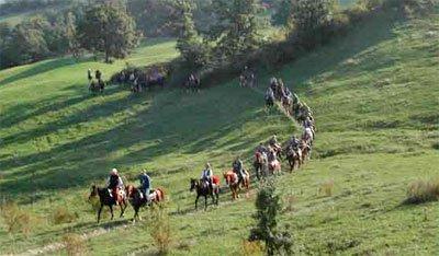 A cavallo nel Montefeltro