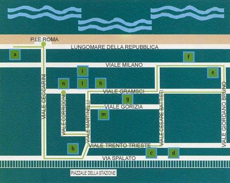 Mappa VIlle Riccione