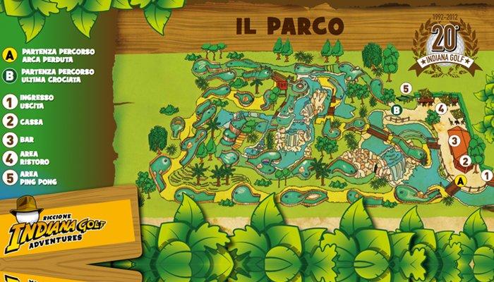 Indiana Golf Riccione: La mappa del parco da minigolf
