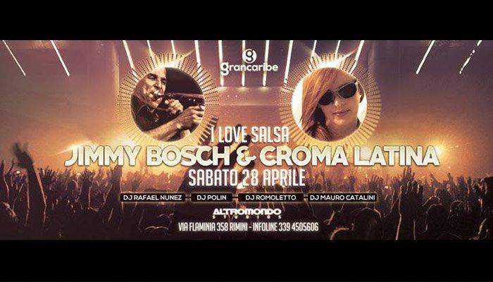 Locandina di I Love Salsa, la serata organizzata dal Grancaribe