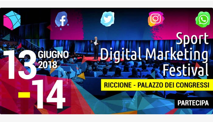 Locandina dell'evento - Sport digital Marketing festival